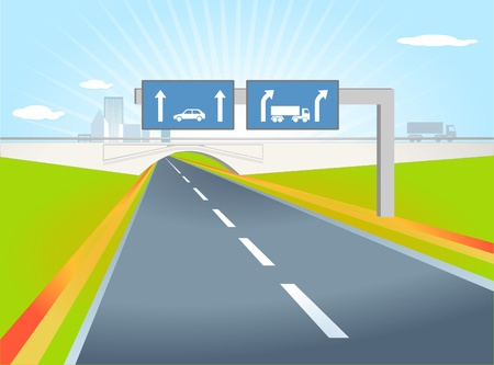truck direction Vector