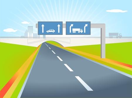 truck direction Stock Vector - 9785137