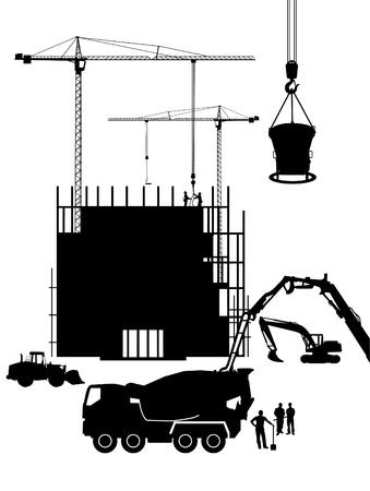 scaffold: concrete construction Illustration