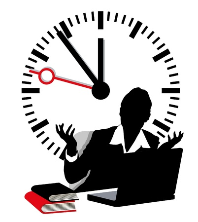 lack of time Stock Vector - 9896479