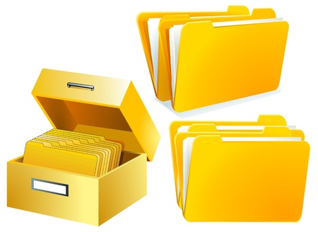 Index Card Folder Stock Vector - 9896480