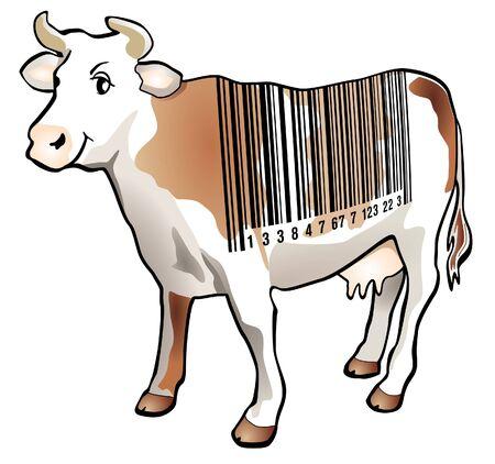 Scan cow Stock Vector - 9896482