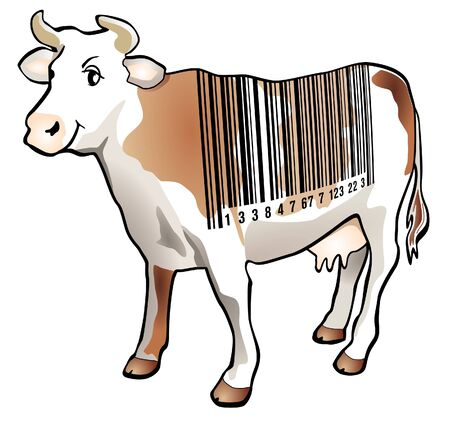 Scan cow Stock Vector - 9896482