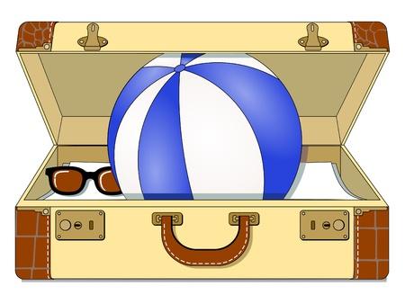 luggage pieces: Travel Case Illustration