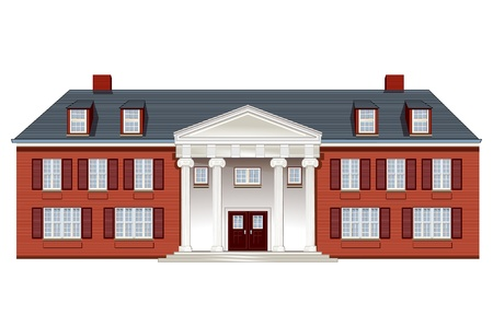 manor: manor house Illustration