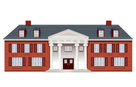 manor house Ilustracja
