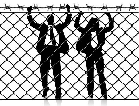 problemsolving: Fence with people