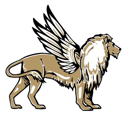 of lions: Le�n alado
