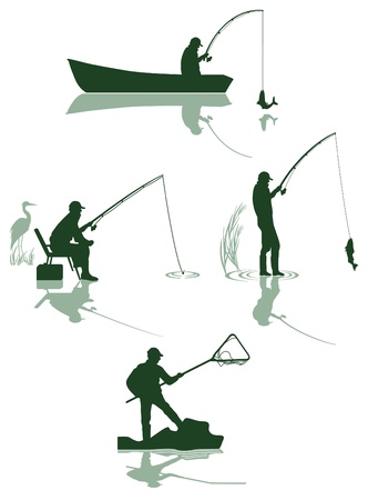 Fishing and fish Vector