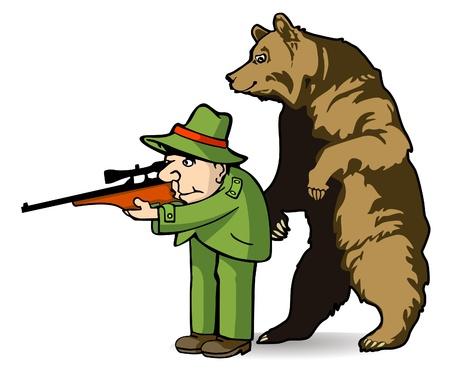 Bear Hunter Vector