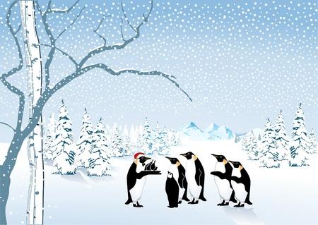 Penguin Christmas Stock Vector - 10045449
