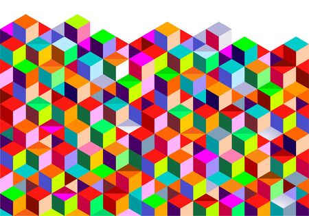 patterning: color Cubes background