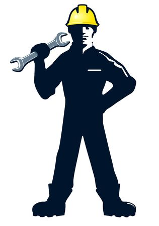 Craftsmen with wrench Vector