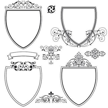 Schilde und Wappen Stockfoto - 10191415