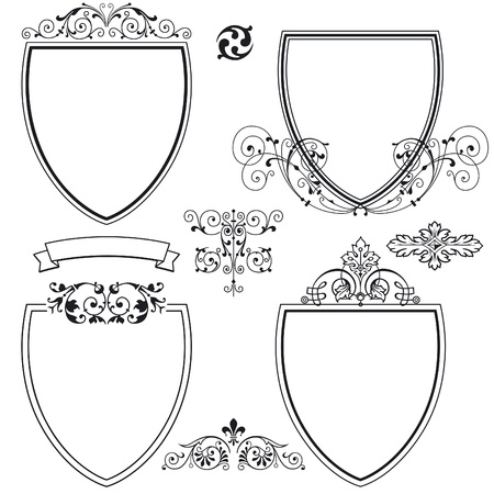 heraldic symbols: shields and crests