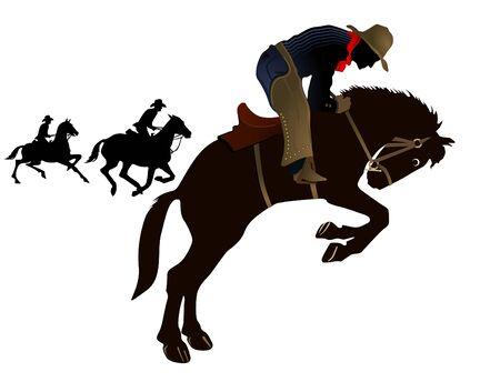 uomo a cavallo: Rodeo