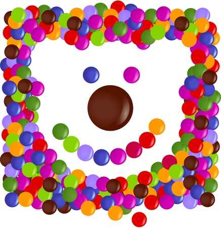 kids birthday party: Color chips made happy Teddy