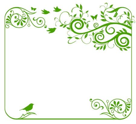 r�le: Label floral