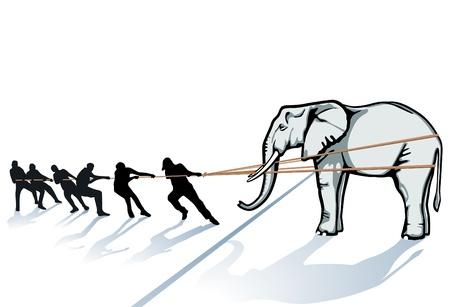 tug o war: extraer el elefante de hielo
