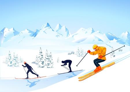 sport invernali: sci di fondo