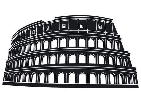 rome italie: Colis�e de Rome, Italie. Illustration