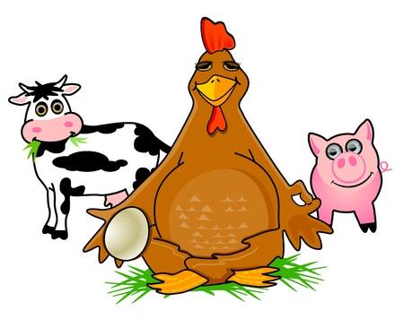 happier: Happy Chicken Farm with animals