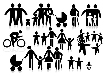 family pictogram Stock Vector - 10590513