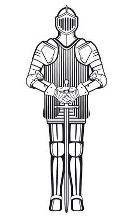 ritter: Ritter mit Schwert Illustration