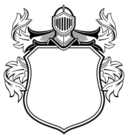 crests: Knight Illustration