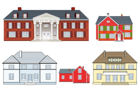 residential neighborhood: houses set