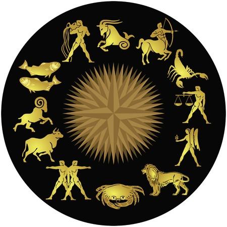 zodiac: Zodiac gold on black