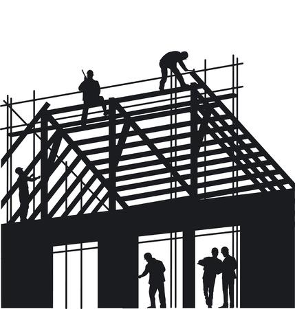andamios: Techadores y Carpenter