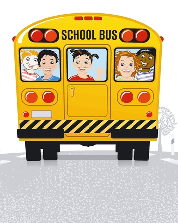 autobus: yellow school bus Illustration