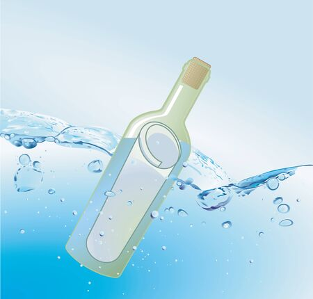 message in a bottles Vector