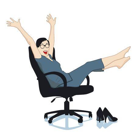 employ� heureux: Joie dans le bureau