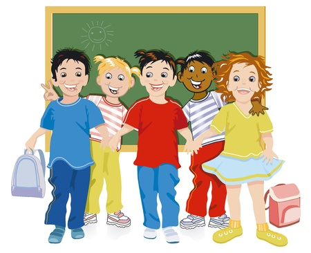 Children at school Vector