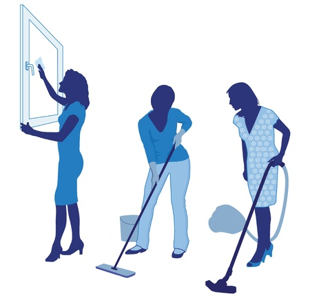 housecleaning: housecleaning Illustration