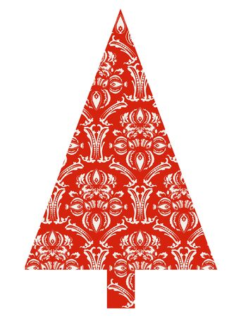 Christmas tree with red pattern Stock Vector - 10941106