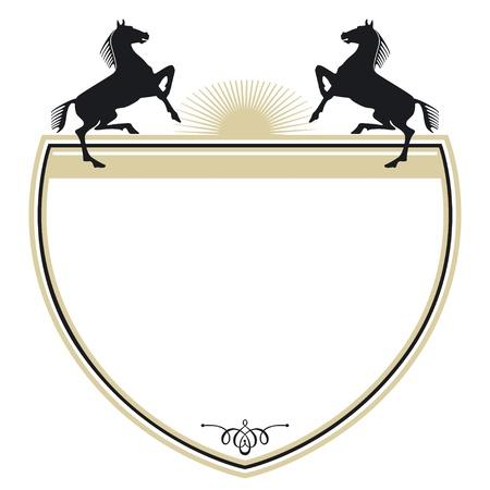 Wappen mit zwei Pferden