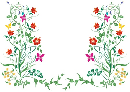 Flowers and Plants Stock Vector - 11205296