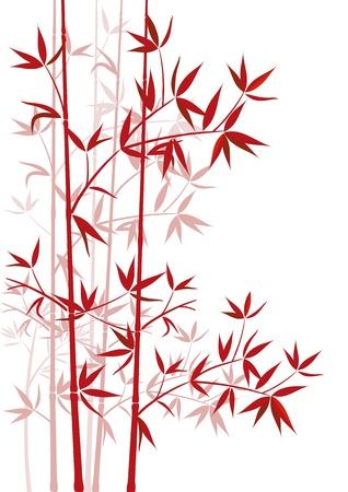 japones bambu: rojo de bambú