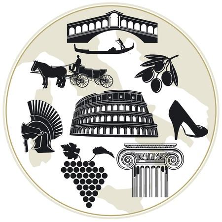 roma antigua: Italia Turismo Vectores