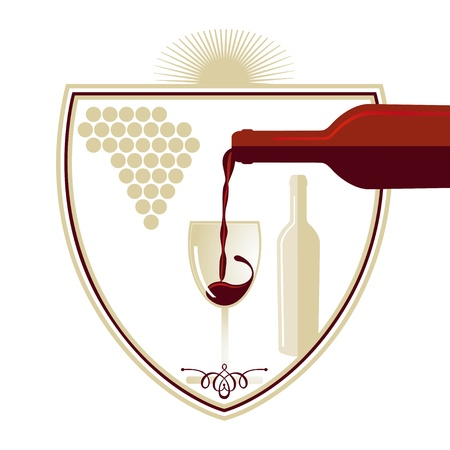 Wine - sign Vector
