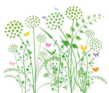 grasses: Dandelion and grasses