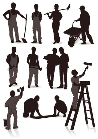 craftsmen: 12 craftsmen  Illustration