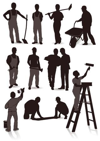 maintenance worker: 12 craftsmen  Illustration