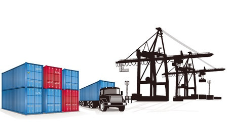 loading cargo: container cargo Illustration