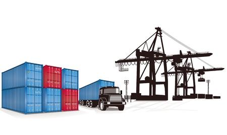 camion grua: contenedor de carga