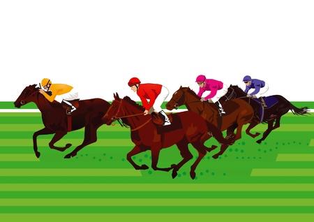 caballos corriendo: Carreras de caballos y Derby Vectores