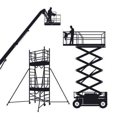 Lift and scaffolding